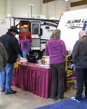 Washington State Evergreen Spring RV Show: Enjoying the indoor motorhome exhibits